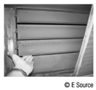 Photograph of an outside air damper